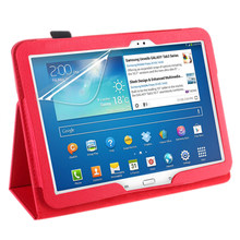 Funda de cuero PU para Samsung Galaxy Tab 3 10,1 P5200 P5210 P5220 tableta(China)