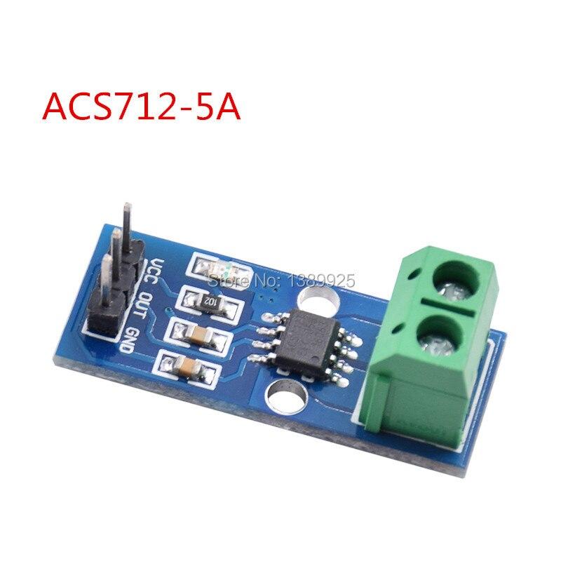Free shipping 20pcs/lot 5A New Range Current Sensor Module Board For ACS712