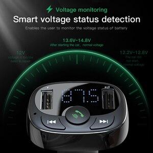 Image 5 - Baseus Auto Ladegerät für iPhone Handy Freisprechen FM Transmitter Bluetooth Car Kit LCD MP3 Player Dual USB Auto Telefon ladegerät