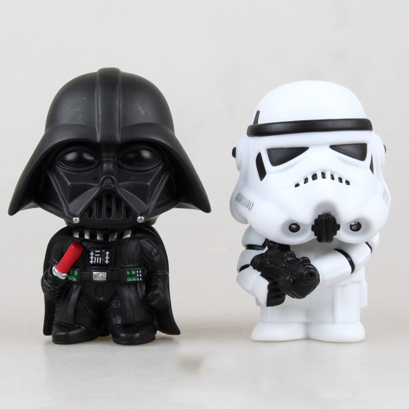 10cm <font><b>Star</b></font> <font><b>Wars</b></font> Figure Action <font><b>The</b></font> <font><b>Force</b></font> <font><b>Awakens</b></font> <font><b>Black</b></font> <font><b>Series</b></font> Darth Vader Stormtrooper Model Toy For Kid's Gift Free Shipping