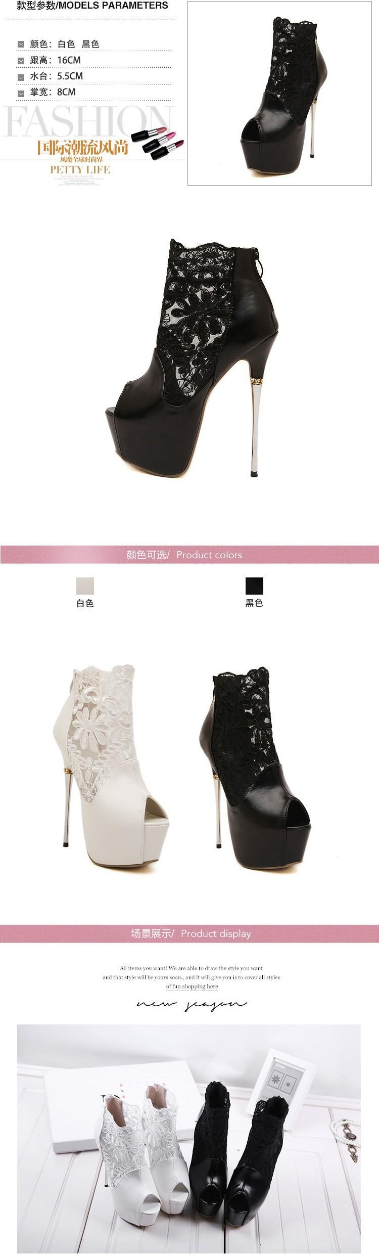 women summer boots 2016 lace pumps women party shoes platform pumps white wedding shoes stiletto heels open toe dress shoes C992 1