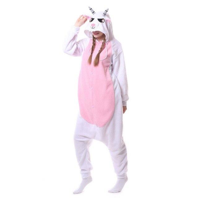 8ae77ae70d Adulto unisex pecora capra tute monopezzo pigiami in pile pigiama animale  costumi cosplay del fumetto degli