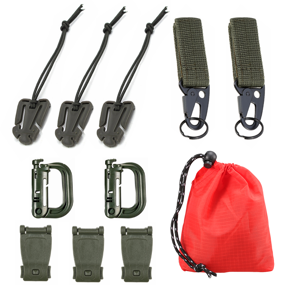 Hot Sale Sports EDC Tool Backpack Carabiner Molle Buckle Clip Securing Straps