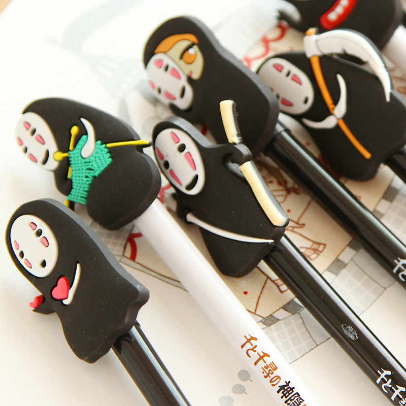 Japaness Cartoon Movie Actor Gelpen Cute Creative Gel Pen No Face Man Gelpen 0.5mm School Office Stationery Gifts Smooth Writing
