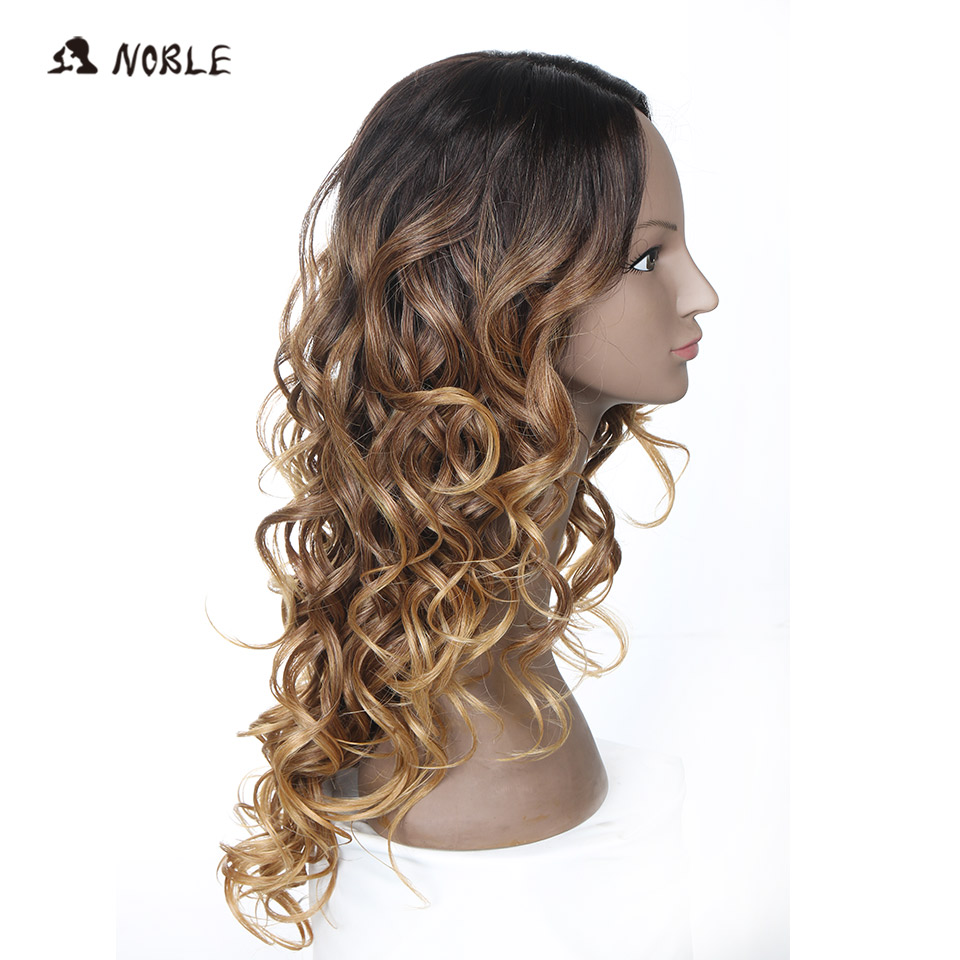 Noble Long Wavy Synthetic Hair Lace Part Wig 26 Inch Wigs For Black Women New Colors Red Mixed Cosplay Wig Free Shipping