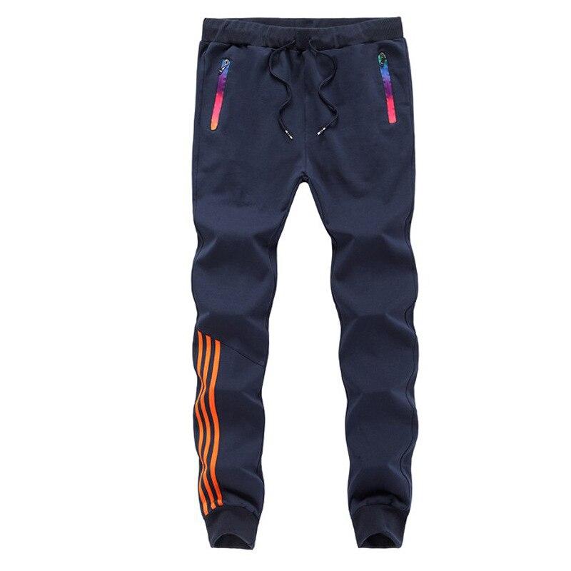 2019 New Fashion Tracksuit Bottoms Mens Casual Pants Cotton Sweatpants Mens Joggers Striped Pants Gyms Trousers Plus Size 5XL