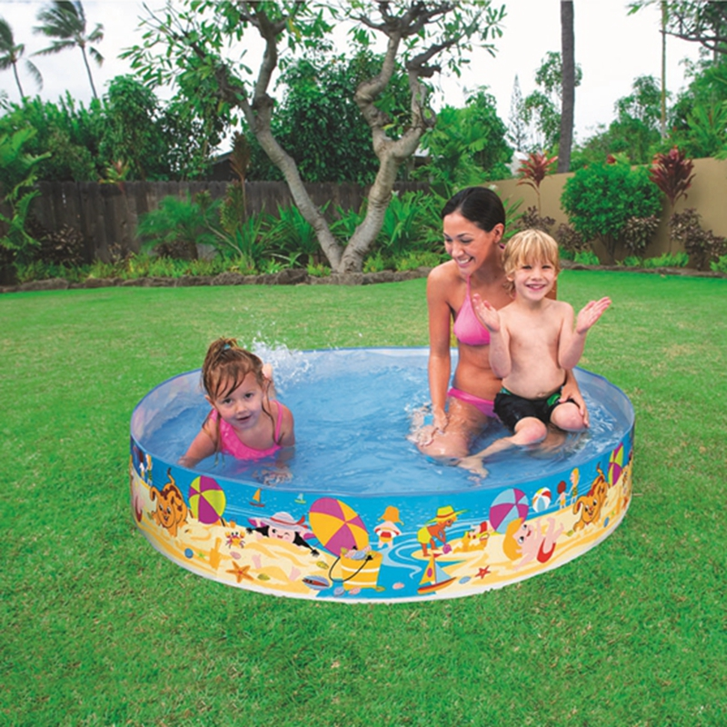 Intex snapset kiddie pool plastic swimming wade paddling for Plastik pool rund