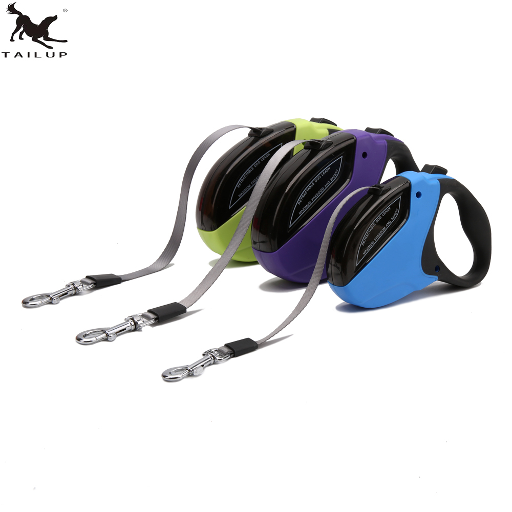 [TAILUP] 5M Automatické Pet Dog Retractable Leash Rope Psí nylonové pevné postroje obojek pro psy vodítko lana pro psy Příslušenství CL123