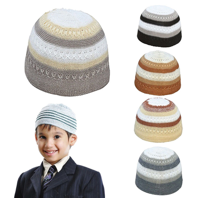6266aed6a3528 Muslim Men Prayer Hats Beanie Turkish Arabic Knitted Hat Crochet Hiking  Knit Cap Visor Stylish Embroidery Mens Beanie with Visor