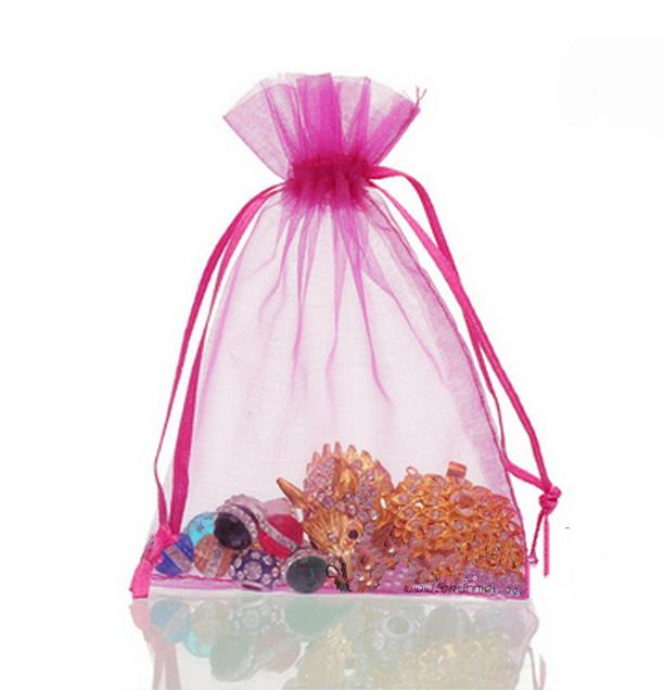 Transparent net yarn Drawstring Pouch Candy bag wrapping