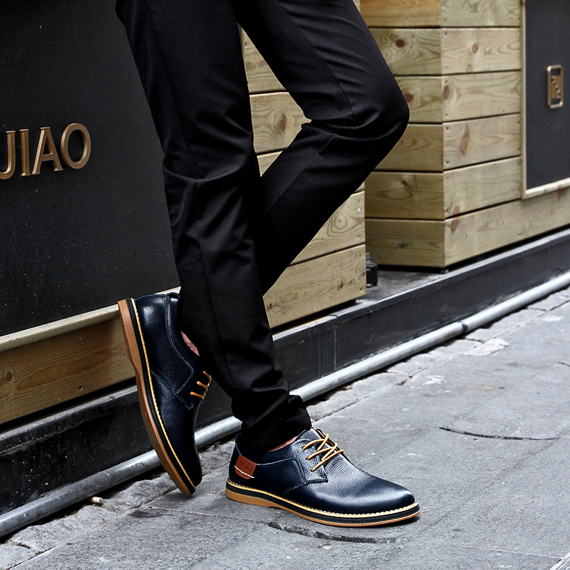 HTB1BPZvXMFY.1VjSZFnq6AFHXXaP 2019 New Men Oxford Genuine Leather Dress Shoes Brogue Lace Up Flats Male Casual Shoes Footwear Loafers Men Big Size 39-48