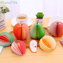2PCS Cute Fruit Style Sticky Note Large Red Apple Paper Fruits Students Portable House For Children