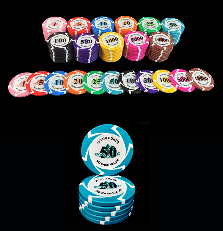10 PCS/LOT 14g Texas Holdem Poker Chips Windmill Style, Casino Gamble Poker Chip