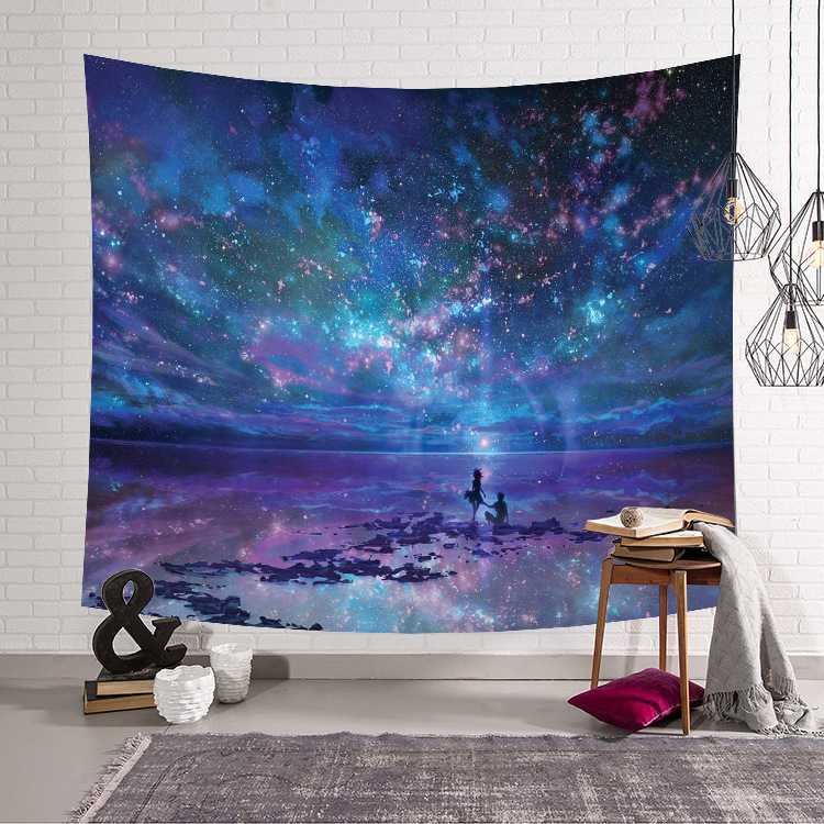 Image 3 - CAMMITEVER Astronaut Space Moon Earth Cloud Hanging Wall Tapestries Creative Home Decoration-in Tapestry from Home & Garden