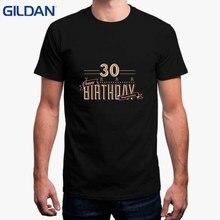 fb9a94e8f3 Moda impreso camiseta para Hombre Camisetas basicas 30 muestra del  cumpleaños camiseta hombres impresión grande Sur