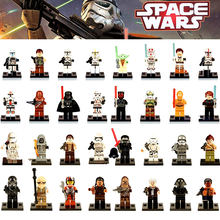 Single Sale LegoINGly Star Wars Luke Leia Han Solo Anakin Darth Vader Yoda Jar Jar Building Block Toys starwars legoingly figure(China)