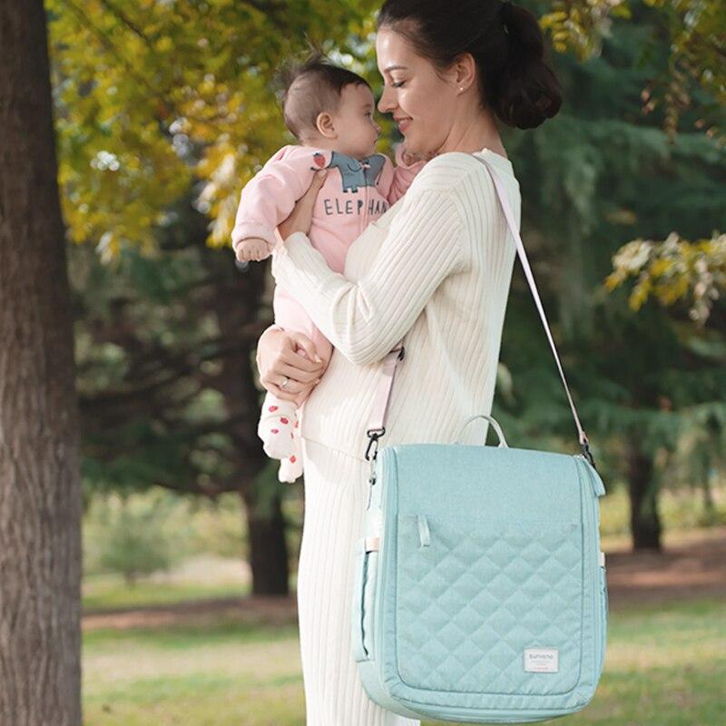 SUNVENO Portable bébé berceau voyage pliant bébé lit sac infantile bambin berceau multifonction sac de rangement pour les soins de bébé 0-6 M - 2