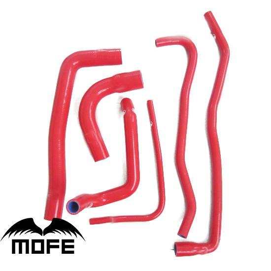 MOFE 6PCS Original Logo Silicone Coolant Hose For Saab 9000 1991-1998 Red Orange Pink White Blue Black Purple mofe original logo 8pcs silicone radiator hose for saab 9 5 1999 2001 black