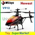 Lo nuevo WLtoys V912 RC Helicóptero Grande Con La Cámara de Control Remoto Juguetes de 4 Canales Gyro 2.4 GHz Radio Control RTF Sola hoja