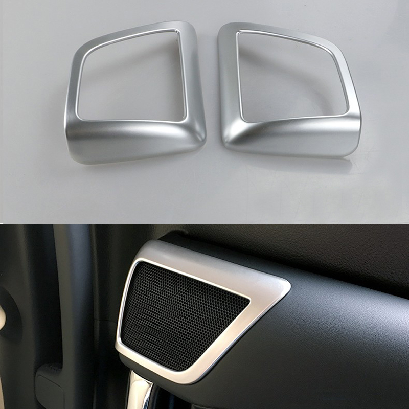 DEE 2pcs!Car Accessory for Toyota Alphard Vellfire 2015 2016 Rear Door Loudspeaker ABS Chrome Trim Frame Speaker Sticker Cover hot car abs chrome carbon fiber rear door wing tail spoiler frame plate trim for honda civic 10th sedan 2016 2017 2018 1pcs