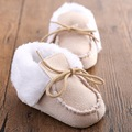Soft Bottom 4 Colors Baby Winter Cotton Plush Warmer Boots Girls Boys Lace-UP First Walkers Newborn Moccasins Infant Shoes
