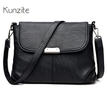 Kunzit Women Messenger Bags Designer Pu Leather Handbags Purses Bags Handbags Women Famous Brands Crossbody Bags Hight Quality