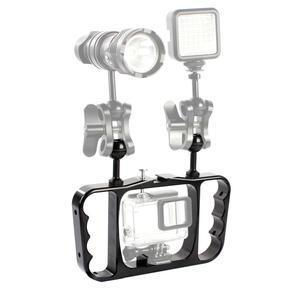 Image 2 - Алюминиевый кронштейн для подводной съемки для Insta360 ONE R для GOPRO 9/8/MAX 7 6 5 4 3 2/AKASO EK7000 4K Аксессуары для экшн камеры