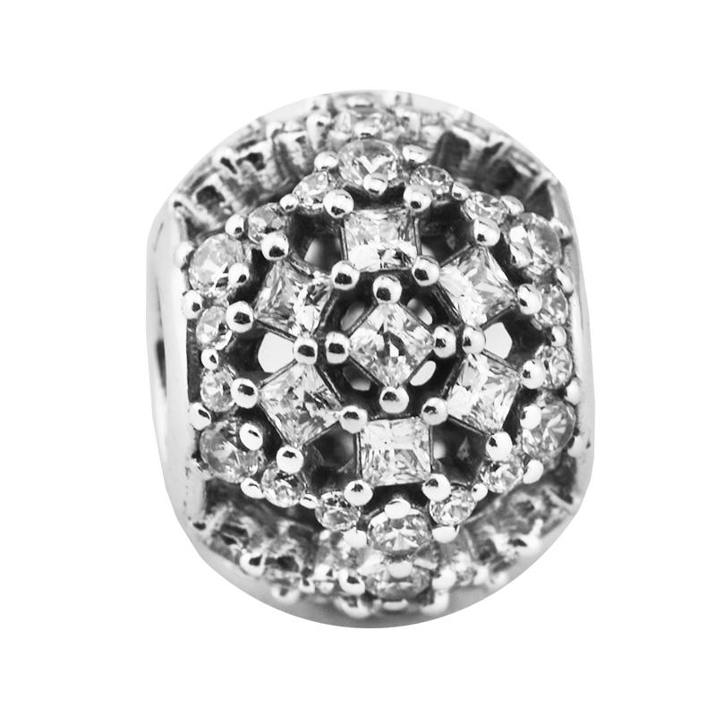 Besorgt 100% Authentische 925 Sterling Silber Schnee Flut Charme, Klar Cz Perlen Fit Original Armband Schmuck, Der Berloque Schnelle WäRmeableitung