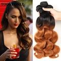 Queen hair brasileiro da onda do corpo bundles grau 10a mink brasileira virgens Ofertas Bundle Cabelo Ombre Weave brasileiro Do Cabelo Humano 1b 30