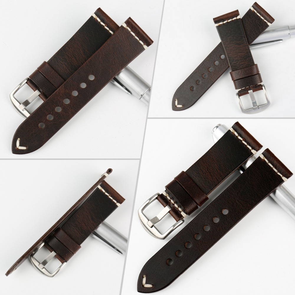 Image 2 - MAIKES Genuine Leather Watchband 20mm 22mm 24mm Watch Accessories Watch Straps Vintage Bracelet Watch Band For CITIZEN Watch-in Watchbands from Watches