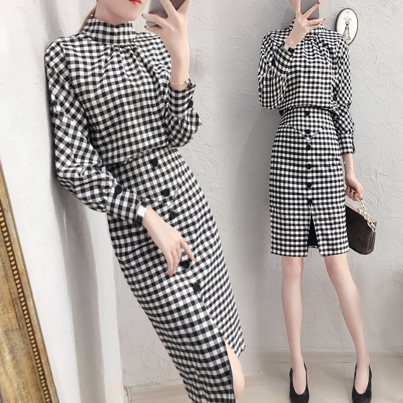 Detail Feedback Questions about Trendy Plaid Crop Top And Skirt Set Woman  Suit Stylish Ensemble Femme Deux Pieces Ol Conjunto Feminino Year old Female  ... 0ddd167e2d68