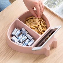 LIYIMEN Multifunctional Plastic Dry Fruit Containers Snacks Seeds Storage Box Garbage Phone Holder Plate Dish Organizer