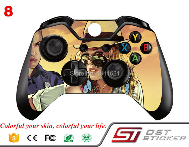 New arrival fashion for GTA skin stickers for xbox one controller sticker for Microsoft skin