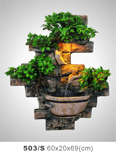 Rockery Water Fountain Features Decorative Wall Living Room Lamp Office Gift Shop Decorations Lucky