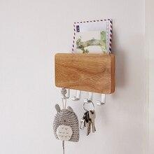 Creative door space aluminum hook hanging key storage rack(A181)
