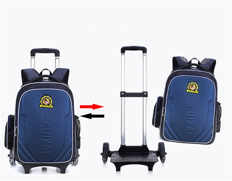 166c9bf8794f Kids Trolley School bags for Boys Children Backpack 6 Wheels Rolling  Backpacks Removable Book Bag Girls. sku  32838254408