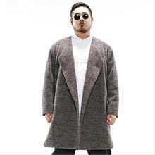 2017 зима 2XL-6XL Плюс размер мужчины 'sChinese стиль шерстяные пальто длинный толстые теплые шерстяное пальто для сильных мужчин в холодную погоду w1532