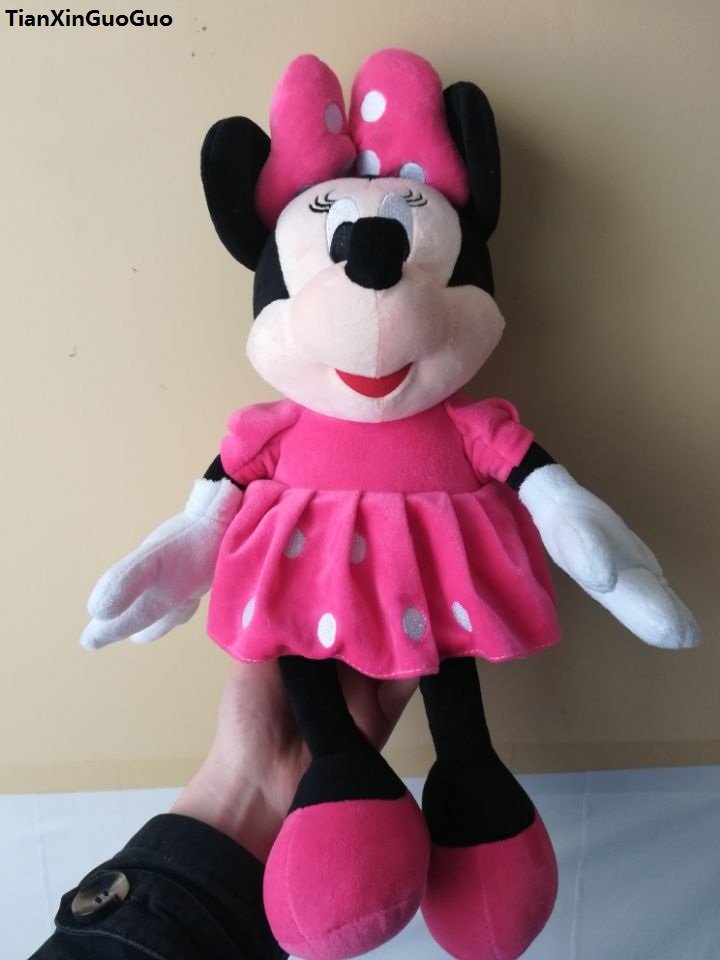 movie&TV character pink skirt minnie mouse plush toy large 45cm soft doll birthday gift w1880
