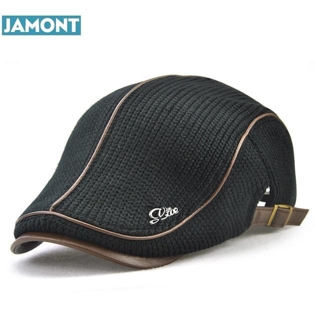 Gorra de invierno de lana de estilo inglés de alta calidad para hombres  mayores gorra gruesa 0ba7dc0f4f8