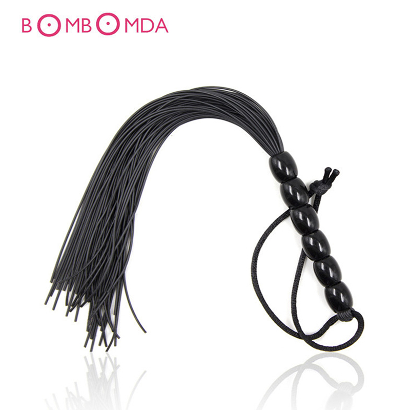 Sex Shop Leather Sex Whip Fetish Spanking BDSM Bondage Beads Whip Sex Slave Whip Sex Toys For Adult Couples Woman Flirting Toys