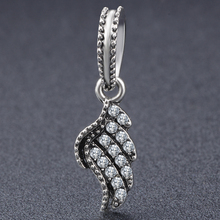 Women DIY Jewelry New Silver Plated Bead Charm Angel Wing Pendant Beads Snake Chain Fits Pandora Dangling Charms цены