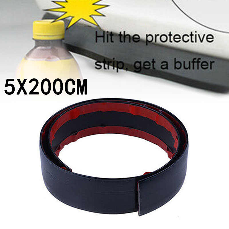 2 м 5 см универсальная Резина глянцевый черный Автомобильный передний бампер для губ сплиттер спойлер высокое качество материал отделка Защитная полоска