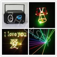 Мини 1 Вт RGB полный Цвет мультфильм лазерный свет 635 нм красный 1 Вт RGB Лазерный свет Рождества освещения