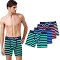 Full Cotton Underwear Mens Boxer Shorts Men New Striped 2016 Long Leg outside Boxer Homme and Leisure