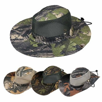 Men's Hat Hunting Sun Bucket Flap Cap Breathable Nepalese Outdoor Fishing Wide Brim - discount item  16% OFF Fishing