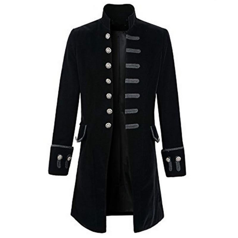 Steampunk Punk Mens Windbreaker Outwear Men s Uniform Stage Wear Vintage Fashion Royal Family Clothing Male