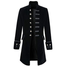 Steampunk Punk Mens Windbreaker Outwear Men's Uniform Stage Wear Vintage Fashion Royal Family Clothing Male Woolen Coats C2049
