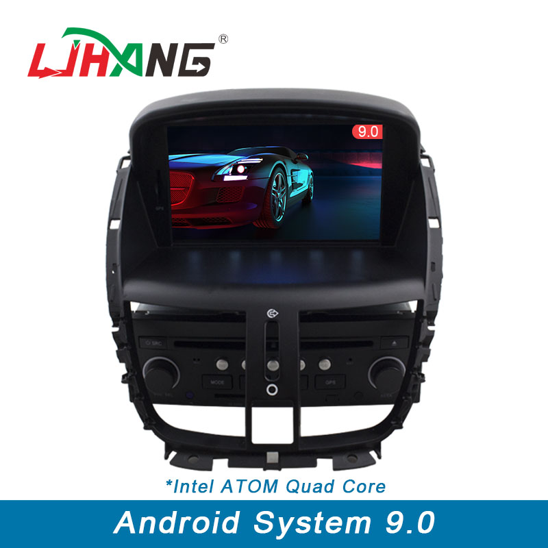 LJHANG 1 DIN 7 Inch Android 9.0 Car Multimedia Player for PEUGEOT 207 2007 2014 GPS Navigation Radio Stereo Headunit WIFI FM USB
