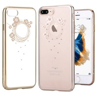 DEVIA For IPhone 7 8 Plus Case Crystals From Swarovski Diamond Plating Hard Flower Floral Case