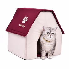 HOT Dog Bed Cama Para Cachorro Soft Dog House Blanket Option Pet Cat Dog Home Shape